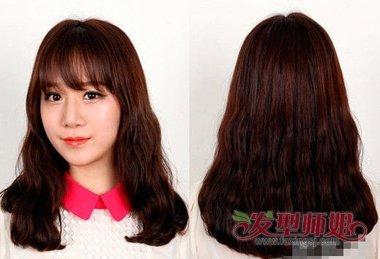 刘海自来卷弄什么发型 蛋糕卷发型图片图片