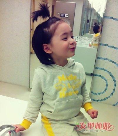 幼儿园小女孩短发发型大全 儿童短发弄什么发型好看(4图片