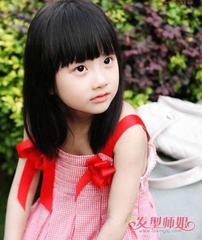 幼儿园小女孩短发发型大全 儿童短发弄什么发型好看(2图片