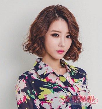 韩版中短发烫发发型_韩国哪些短发发型好看 女生中性短发发型_发型师姐
