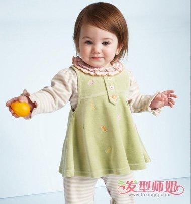 2岁女宝宝短发发型图片 小孩短发发型图片