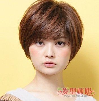 方脸适合怎样的短发  四方脸大脸的女孩适合什么样的 短发发型呢?图片