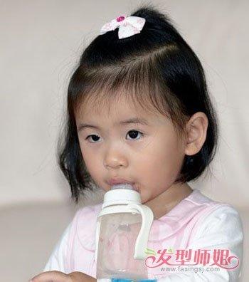 发型设计 儿童发型 >> 儿童短发小辫子发型扎法 儿童短发发型绑扎方法