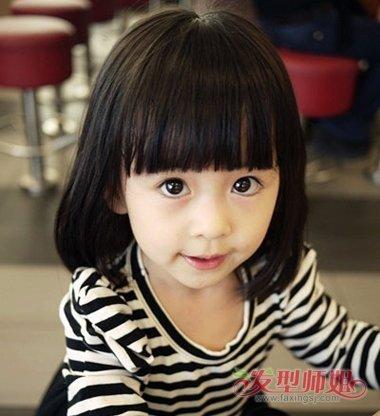 发型设计 儿童发型 >> 短发小女孩发型大全 幼儿园小孩子短发发型(2)