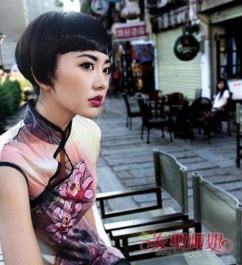 穿旗袍配什么短发发型 最新女款短发发型图片