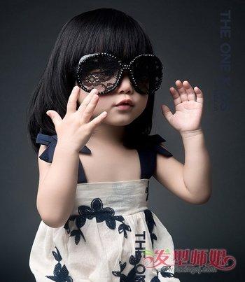 娃娃短发发型图片 小女孩最新盖头短发发型(4)图片