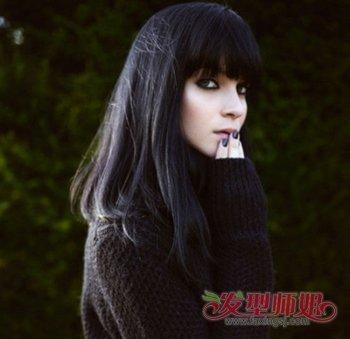 黑头发长脸适合什么发型 黑头发长的快的长脸女发型(2图片