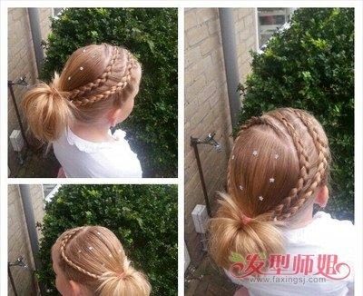 怎么给儿童短发扎辫头发长的快 儿童9岁扎头发图片(3)图片