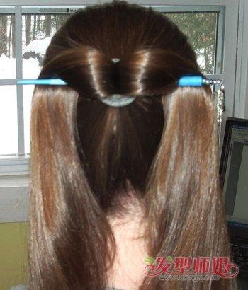 发型diy 长发扎发 >> 长头发如何使用发簪 长头发簪子的用法  第一步图片