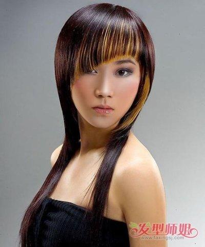 流行发型 沙宣发型 >> 沙宣头接长头发的过程 女孩子长头发设计的图片图片