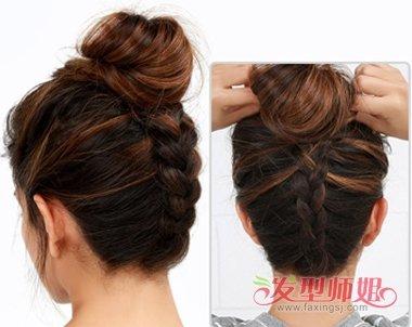 发型diy 盘发 >> 中年人简单快速盘长发图解 中年女性中长发夏季怎么图片