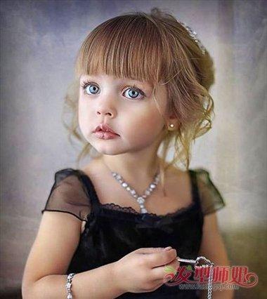 小孩子中长发怎么扎好看 小孩长发怎么扎的造型图片