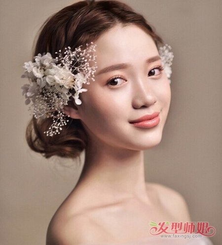 发型设计 新娘发型 >> 新娘发型+圆脸+长发 新娘圆脸长发型设计  2017