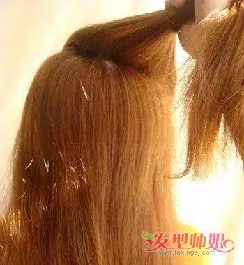 还可以将少少的头发扎起来哟,可是头发少的长发怎么 扎头发好看又显得图片