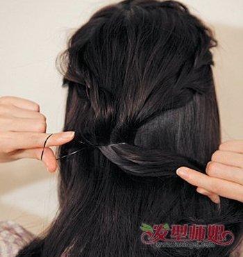 黑色长头发的编发图解 黑长头发怎么编好看图片