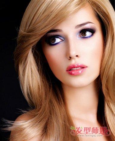 方脸长头发好看吗 长方脸适合什么长发发型(4)