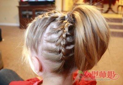 儿童短发扎辫子大全_小孩子的头发有点短怎么扎小辫子 儿童短头发梳辫子的方法图片 ...