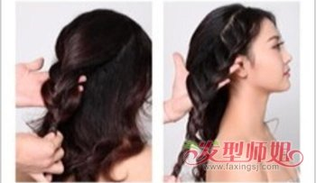 中长发新娘发型diy 中长发型教程图片