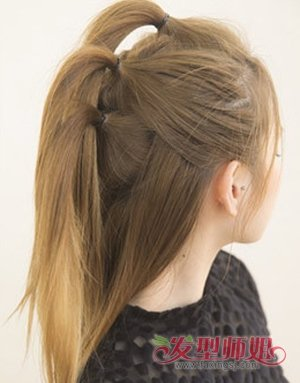 中长发怎么扎_中长发怎么扎冬菇头 冬季中长发发型扎法_发型师姐