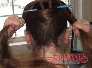长头发如何盘头发最简单漂亮 长头发簪子盘发步骤(4)图片