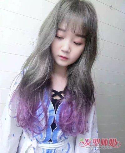 女脸长头发细毛发型 脸长头发稀留什么发型好看图片