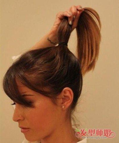 怎样把马尾塞进头发里 学生马尾头发扎法_发型师姐图片