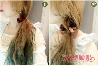 发型设计女生中长发马尾 流行美马尾发型扎法图片