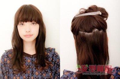 中年妇女长发简单盘发教程 中年妇女中长发简单盘头方法图片