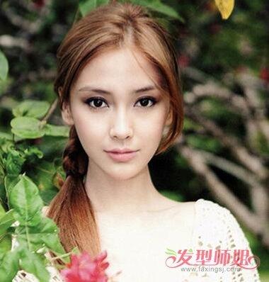 头发少中长发扎什么发型好看 美女中长发扎发型设计图片