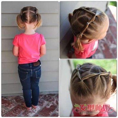 儿童短发扎发发型