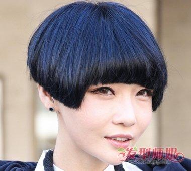 孙俪蘑菇发型图片 时尚质感的蘑菇头发型图片