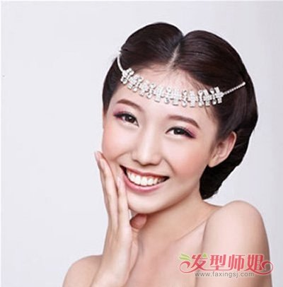 圆脸新娘的发型适合留头帘吗 适合圆形脸做的新娘发型