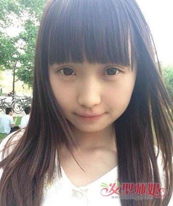 人矮脸圆怎么设计发型 圆脸女生搭配刘海发型(2)