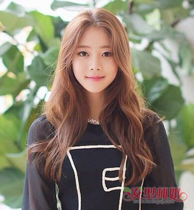 2017年韩国女生中长头发染色 韩式长头发头型(2)_发型图片