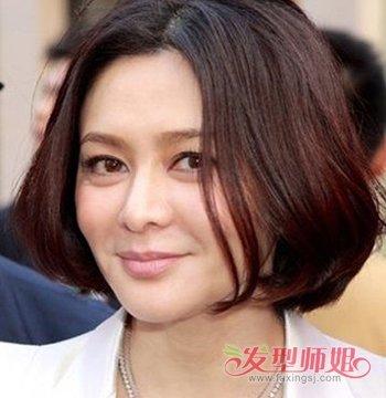 发型设计 中年发型 >> 2017年秋天中年女性流行的时尚一点的头型有图片