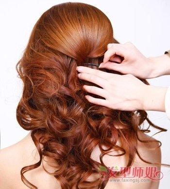 简单长发新娘发型步骤图解 新娘挽头发简单步骤图片