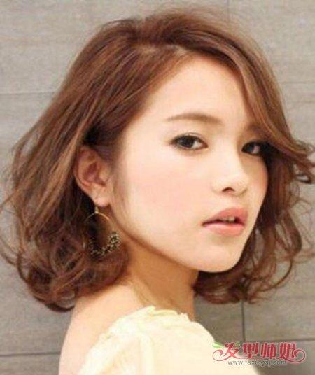 脸圆头尖头发少的女生适合什么发型 圆脸低个子适合什么发型(2)图片