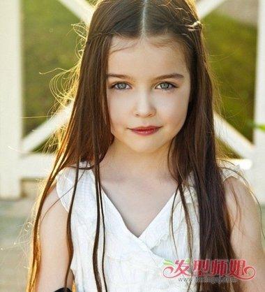 儿童简单又时尚公主头发型 小女孩好看又简单的发型图片