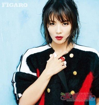 刘涛最新短发封面写真 湿发若隐若现超性感撩人 发型师姐