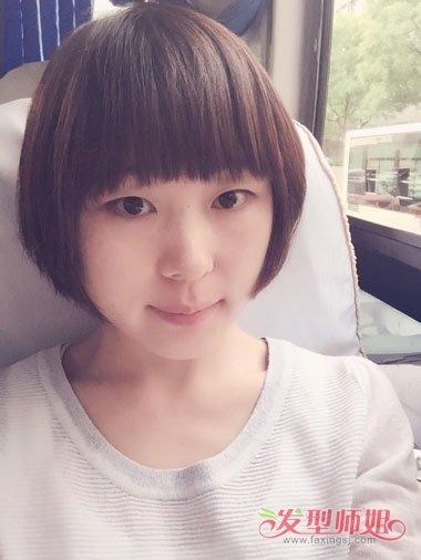 大脸女生短头发造型图片 脸大短头发发女生做什么造型图片