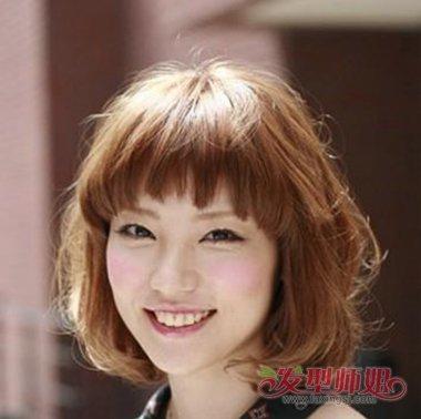 脸大的人适合电什么发型 脸大头发多适合的发型(2)