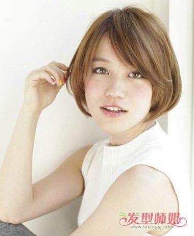 发型设计 短发 >> 脸大脸圆的女生适合短发吗 女生脸大该适合什么短图片