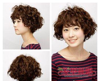 中老年女士烫发型大全 最新发型2018满头烫(4)