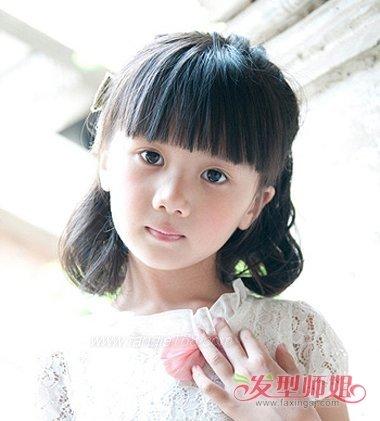 小女孩齐刘海扎图片