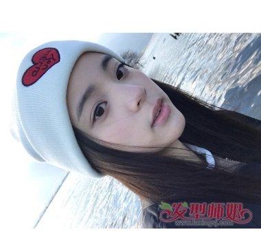 欧阳娜娜长直发无刘海造型设计图片