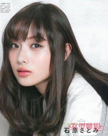 2018年圆脸女生流行中长发发型 2018圆脸女生适合的发型