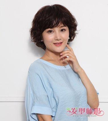 中老年最新烫发发型设计图片 2018新款女士烫发发型(2图片