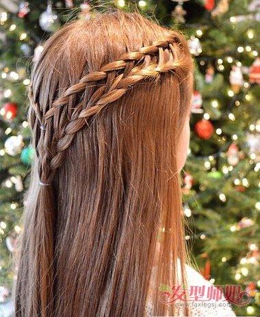 双编发发型
