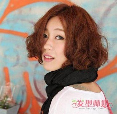 2018年简单短发烫发发型 最新短发烫发发型(3)