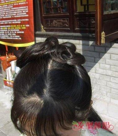 女子长发带簪子古装发型设计步骤图片